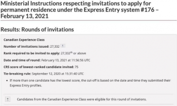加拿大移民政策最新2021年75分拿身份?目前持有效COP